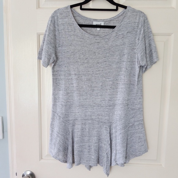 Seed Heritage grey blouse size XS shirt casual